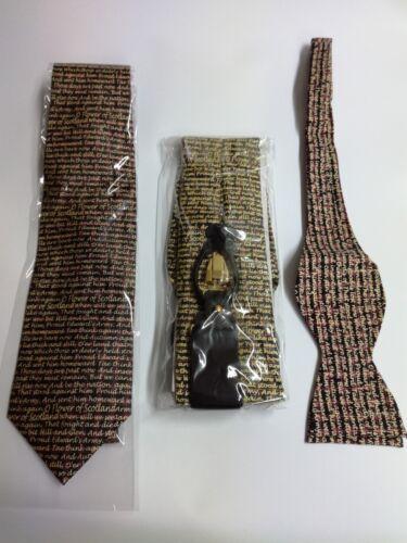 New Braces Self Tie Bow Tie 100/% Silk Flower Of Scotland