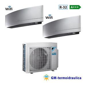 Condizionatore-Daikin-Dual-Split-Inverter-Emura-Silver-9-9-9000-9000-Btu-2MXM40M