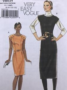 Vogue-Sewing-Pattern-8531-Misses-Ladies-Lined-Dress-Size-6-12-Uncut