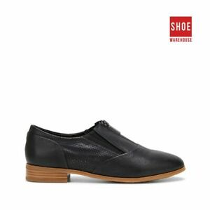 Hush Puppies LIZ Black Womens ZIP Casual Leather Shoes