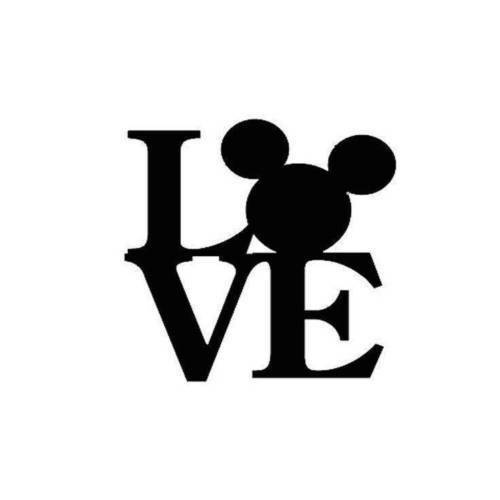 Mickey Mouse Ears Love Vinyl Decal Sticker