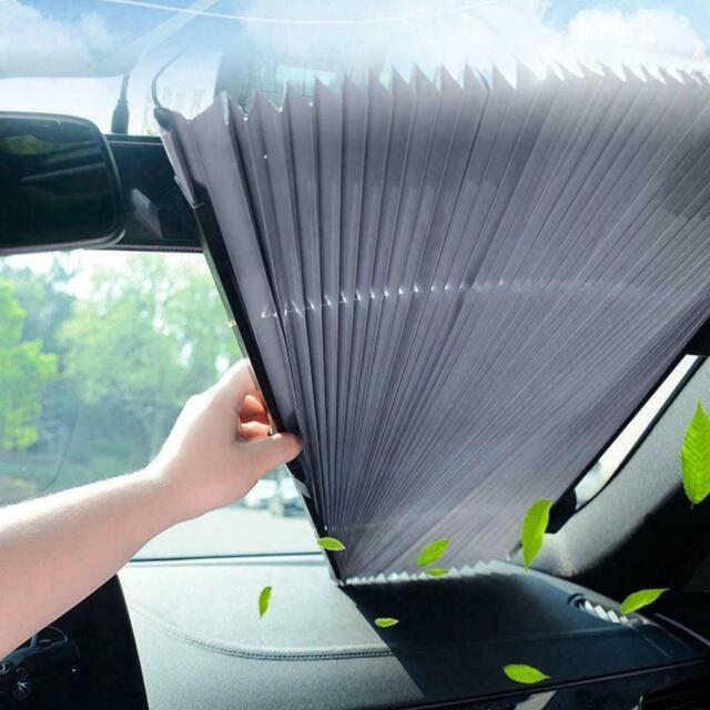 Retractable Folding Car Windshield Sunshade Visors Block Cover