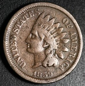 1859-INDIAN-HEAD-CENT-With-LIBERTY-FINE