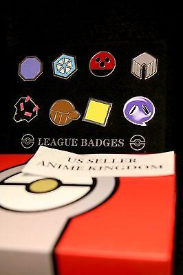 USA Seller Cosplay 6 POKEMON Gym Badges Indigo Johto Sinnoh Unova Kalos Hoenn