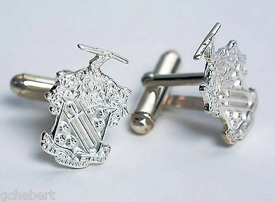 Phi Delta Theta, ΦΔΘ, Crest Cufflinks In .925 Sterling Silver By McCartney