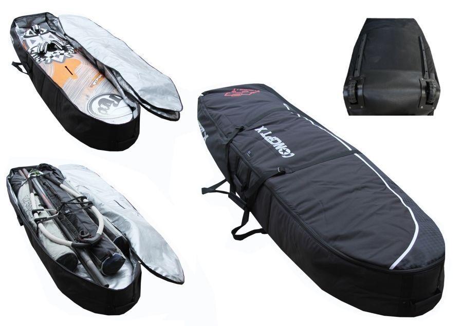 Doble Funda Tabla Concept X 265cm X 69cm, Surf Board Bolsa, Nuevo con Rodillos