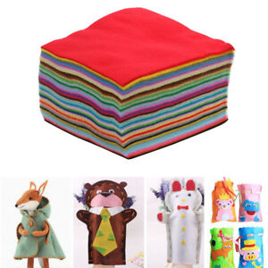 40PCS-Non-woven-Felt-Fabric-polyester-sleeve-soft-cloth-Kids-DIY-Christmas-Craft