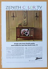 Vintage Magazine Print Ad 1964 Zenith Color TV The Valencia