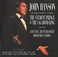 JOHN HANSON - THE STUDENT PRINCE & THE VAGABOND KING - CD