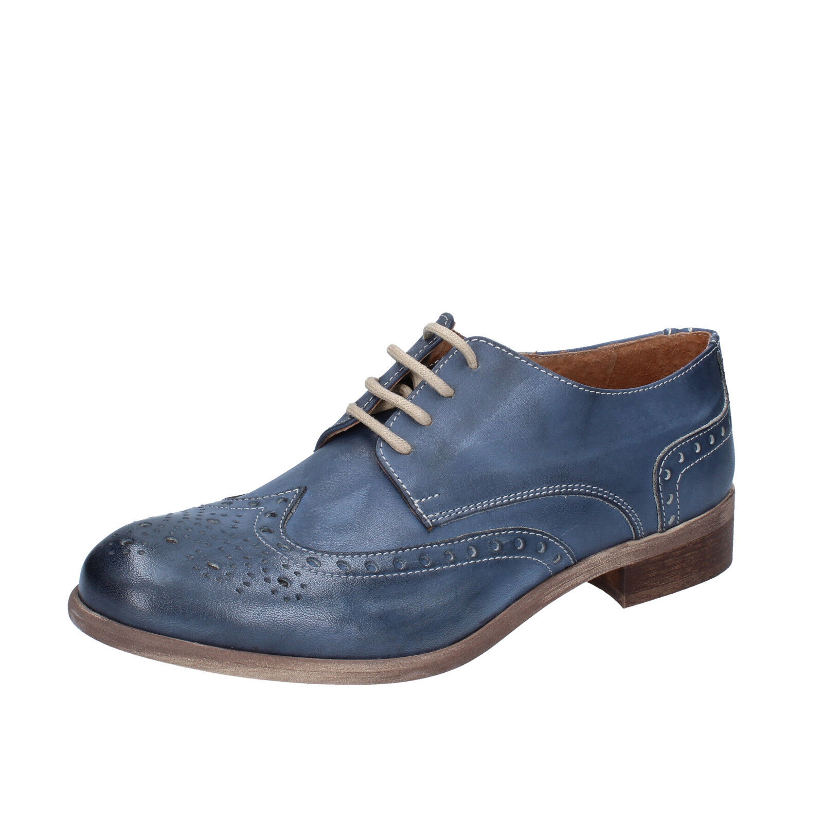 Herren schuhe KEP'S 41 elegante blau leder BZ887-C