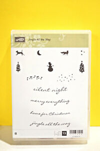 Stampin-Up-Jingle-All-the-Way-RETIRED-stamp-set-complete-Merry-Christmas-Snowman