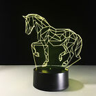 LED Table Luces 3D Lamp Animal Night Light Horse Bedside Lamps Gift Decor