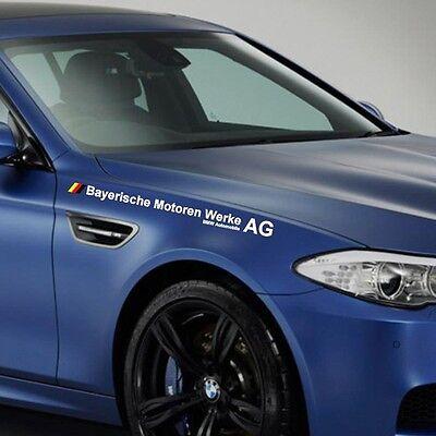 1 3 4 5series Z4 M3 M4 M5 #2 BMW FULL NAME sticker motor sports decal sticker