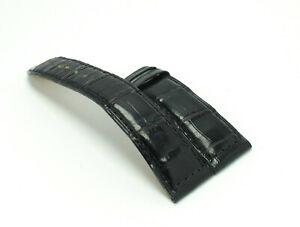 Jaeger-LeCoultre-Armband-schwarz-Uhrenarmband-Anstoss-19mm-fuer-Faltschliesse