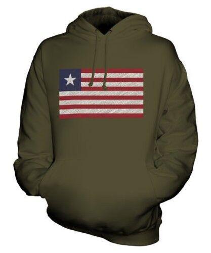 Liberia Scribble Flag Unisex Kapuzenpulli Top Geschenk Liberianische Fußball