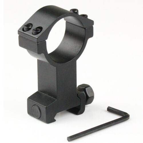 30mm High Profile Scope Ring w// 21mm Picatinny//Weaver Rail Mount for Flashlight