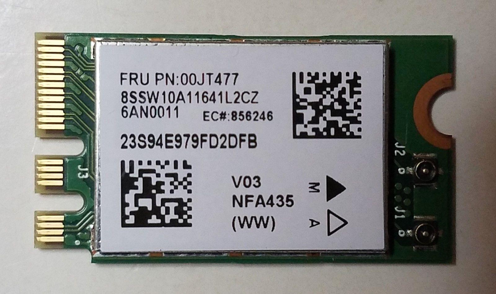 00JT477 8SW10A11641 GENUINE LENOVO WIRELESS CARD IDEAPAD 500-15ISK 80NT