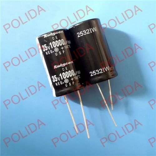 1PCS Electrolytic Capacitor Rubycon size 22*40mm 10000UF35V 35V10000UF