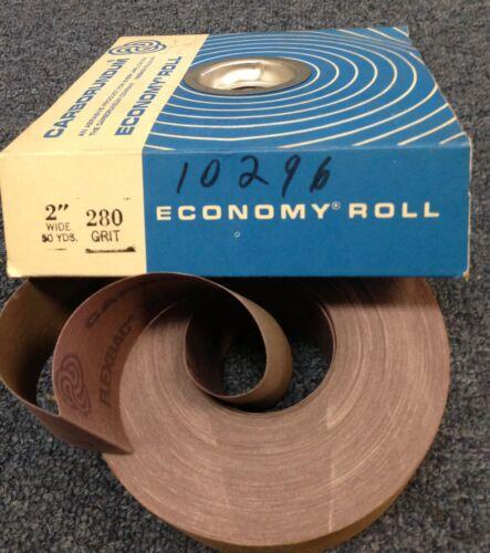 "Lot 2 Carborundum 2/"" Wide 50 Yd FLEXBAC Metal Cloth Shop Roll Sandpaper 280 Grit"