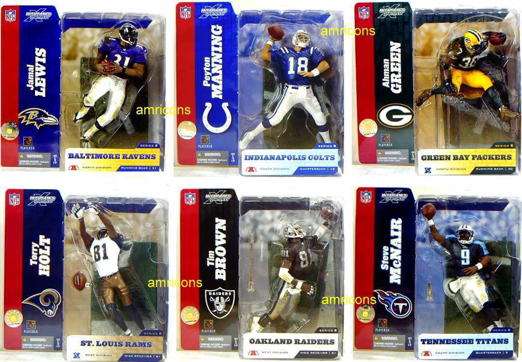 McFarlane Sports NFL Football Series 8 Factory Sealed Case of 12 Figures 2004