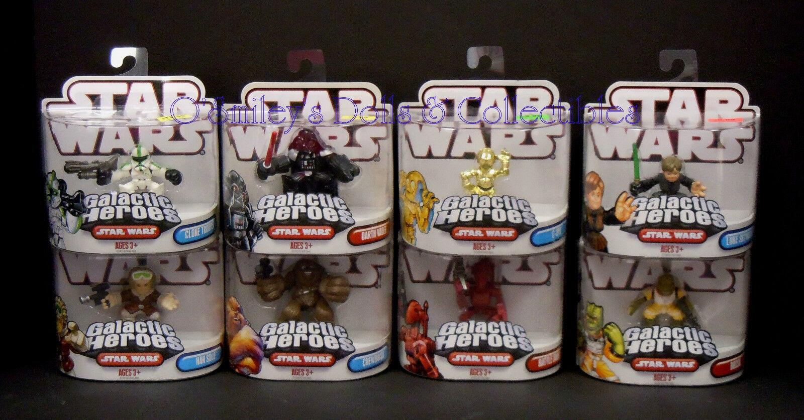 HTF Single STAR WARS GALACTIC HEROES (Complete Set 8) 2007 Hasbro BOSSK+_NRFP