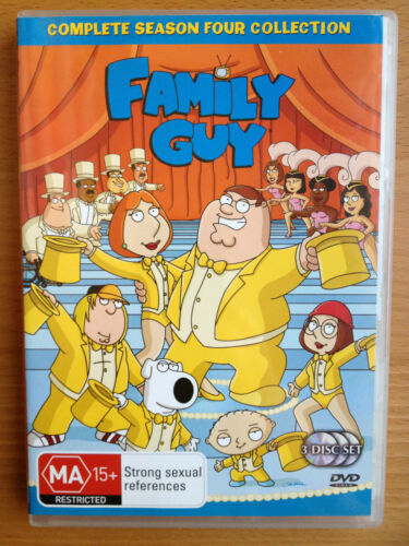 1 of 1 - FAMILY GUY ~ COMPLETE SEASON FOUR 4 COLLECTION ~ 3 DISC DVD SET