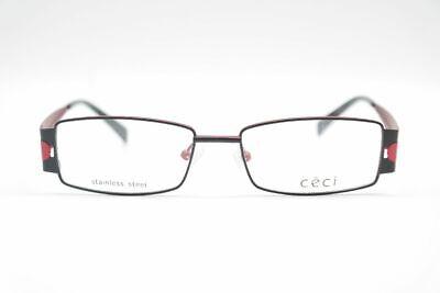 100% Wahr Céci 5233 51[]16 135 Schwarz Rot Oval Brille Brillengestell Eyeglasses Neu Elegant Im Stil