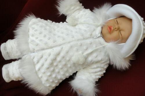 Manteau taufmantel Manteau d/'hiver baptême bébé hiver baptême pantalon Casquette Chapeau taufset set
