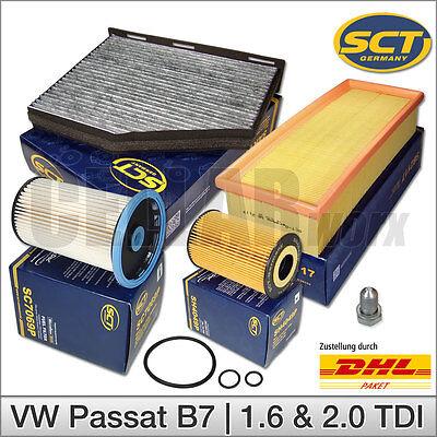 Ölfilter Luftfilter Kraftstofffilter Pollenfilter Audi Q3 2.0 TDI 100-130kW