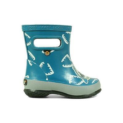 Blue Shark Bogs Kids Pull-On Waterproof Rainboots Skipper Animals