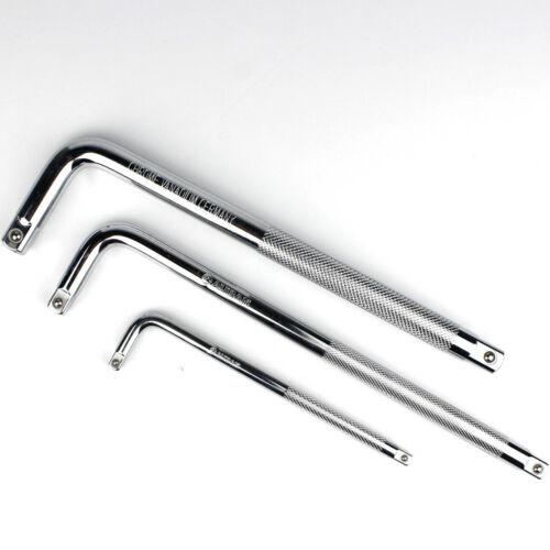 """1//4"""" 3//8"""" 1//2/"""" Drive L Shape Socket Long Extension Bar Wrench Spanner L Type"""