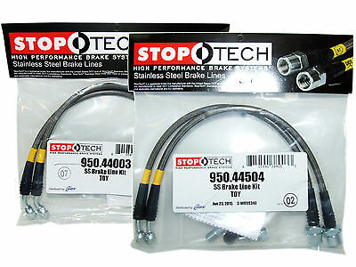 StopTech 950.44504 Rear Braided Brake Lines for Lexus IS250 IS350 GS350 GS460