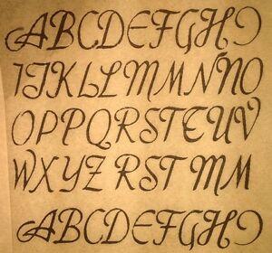 Vintage 1968 Cursive Letters Font Iron Transfer RARE