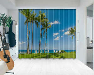 Relaxing-Chair-Sea-3D-Curtains-Blockout-Photo-Printing-Curtains-Drape-Fabric