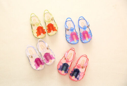 Summer Princess Cute Soft Flat Sandals Jelly Shoes for Kids Girls Toddler Baby