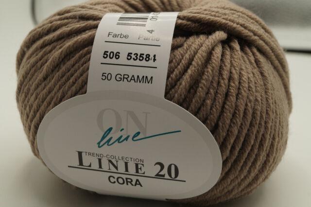 LINIE 20 CORA von ONline ca 85 m Wolle Farbe 0073-50 g