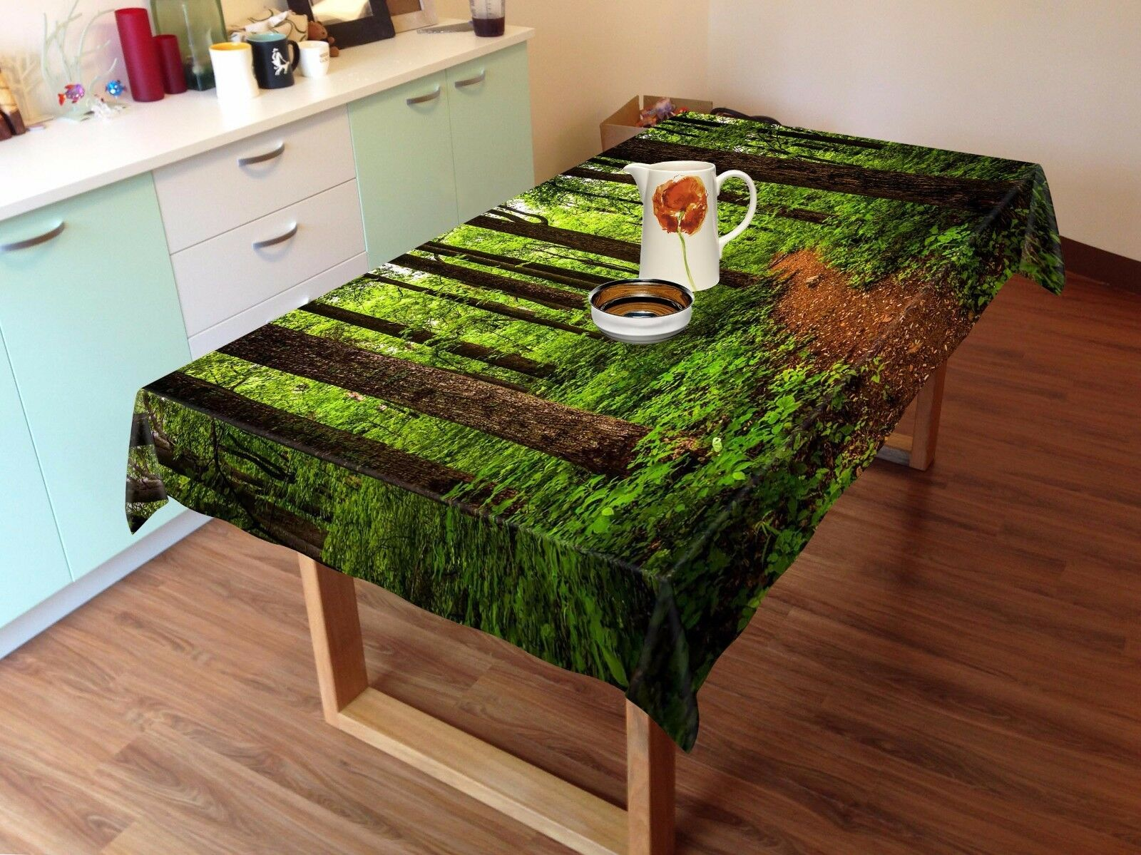 3D Woods 833 Tablecloth Table Cover Cloth Birthday Party Event AJ WALLPAPER AU