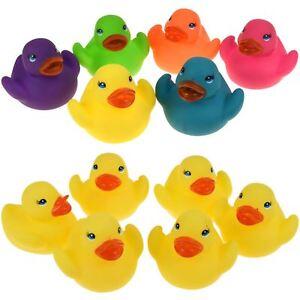 Mini-Bano-Pato-de-Goma-Patos-De-Bano-Juguete-Squeaky-Jugar-Ninos-Ninos-Pequenos-de-Agua-Amarillo