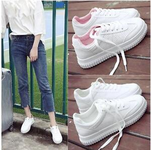 1c2fae7a044 Fashion Women Ladies Sport Shoes Thick Sole Flat Casual Student ...