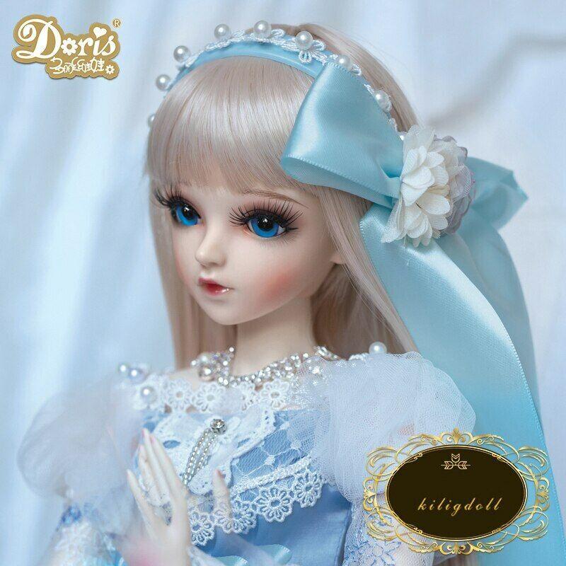60cm BJD Doll Puppe 1 3 Ball Jointed Mädchen Puppen Make-up Kleidung FULL SET