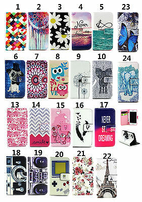 Magnetic Wallet Book Printed PU Leather Card Flip Stand Cover LOT Y= Case