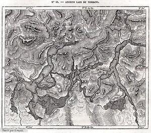 Cartina Lombardia Laghi.Cartina Atichi Laghi Del Verbano Lago D Orta Maggiore Di Lugano Di Como 1876 Ebay