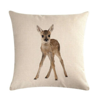 Animal-Vintage-Cotton-Linen-Cushion-Cover-Back-Waist-Throw-Sofa-Pillow-Cover-WA