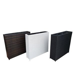 blumenk bel schwarz pflanzk bel raumtrenner sichtschutz pflanzgef polyrattan ebay. Black Bedroom Furniture Sets. Home Design Ideas