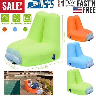 Fabulous Inflatable Lounger Air Sofa Bed Chair Couch W Portable Organizing Bag Waterproof Ebay Creativecarmelina Interior Chair Design Creativecarmelinacom