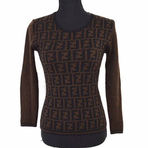 Authentic FENDI Vintage Zucca Pattern Long Sleeve