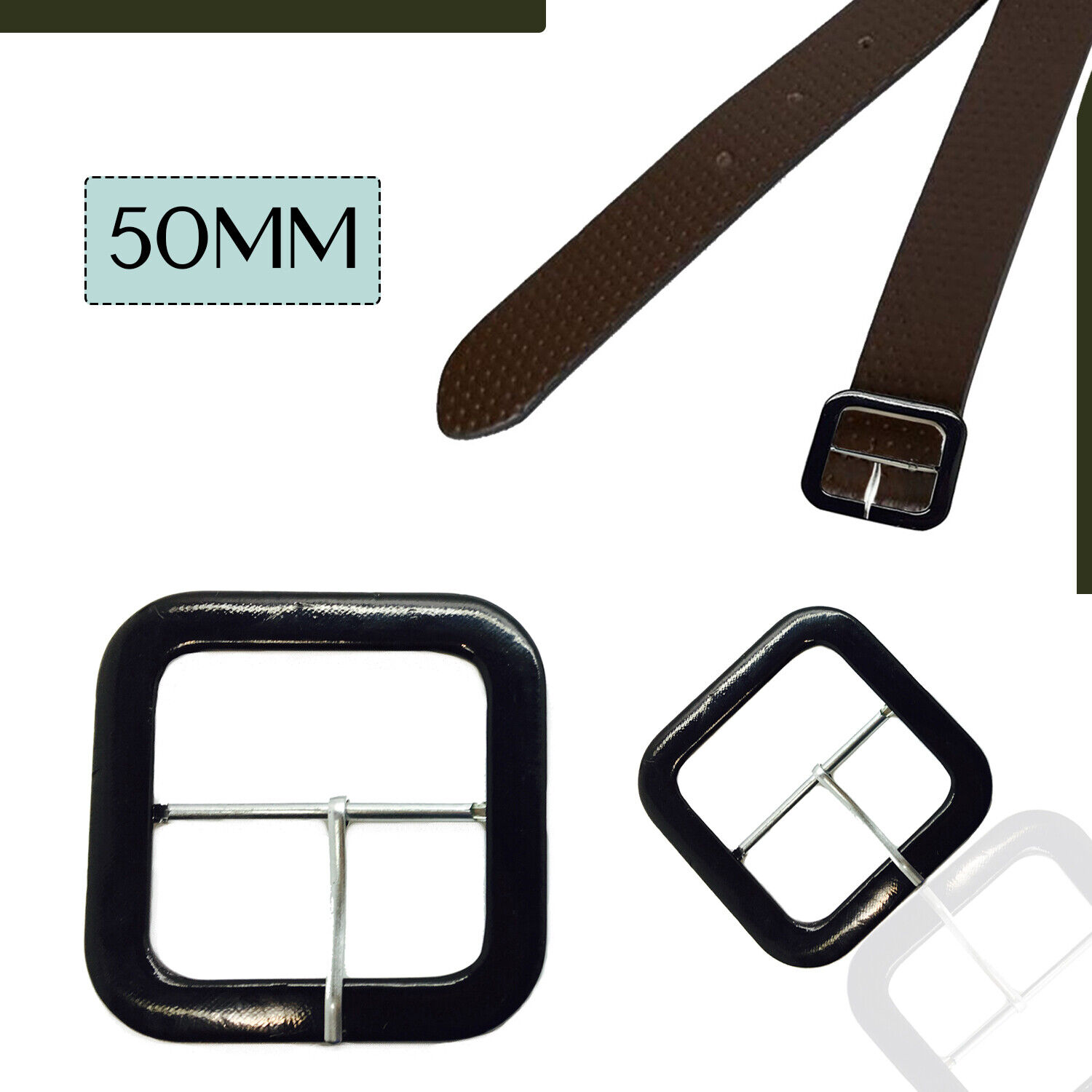 2-5-10pcs Stylish Belt Covered Square Buckles for Sewing Coats Belts Arts Crafts