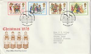 22-de-noviembre-de-1978-primer-dia-cubierta-de-la-oficina-de-correos-de-Navidad-Mesa-Shs-B