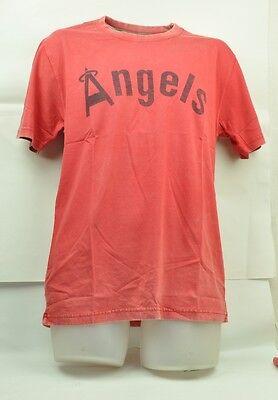 Weitere Ballsportarten Sport Unparteiisch Mlb California Los Angeles Angels Red Jacket Mittelrot Säure Gewaschen T-shirt Mild And Mellow