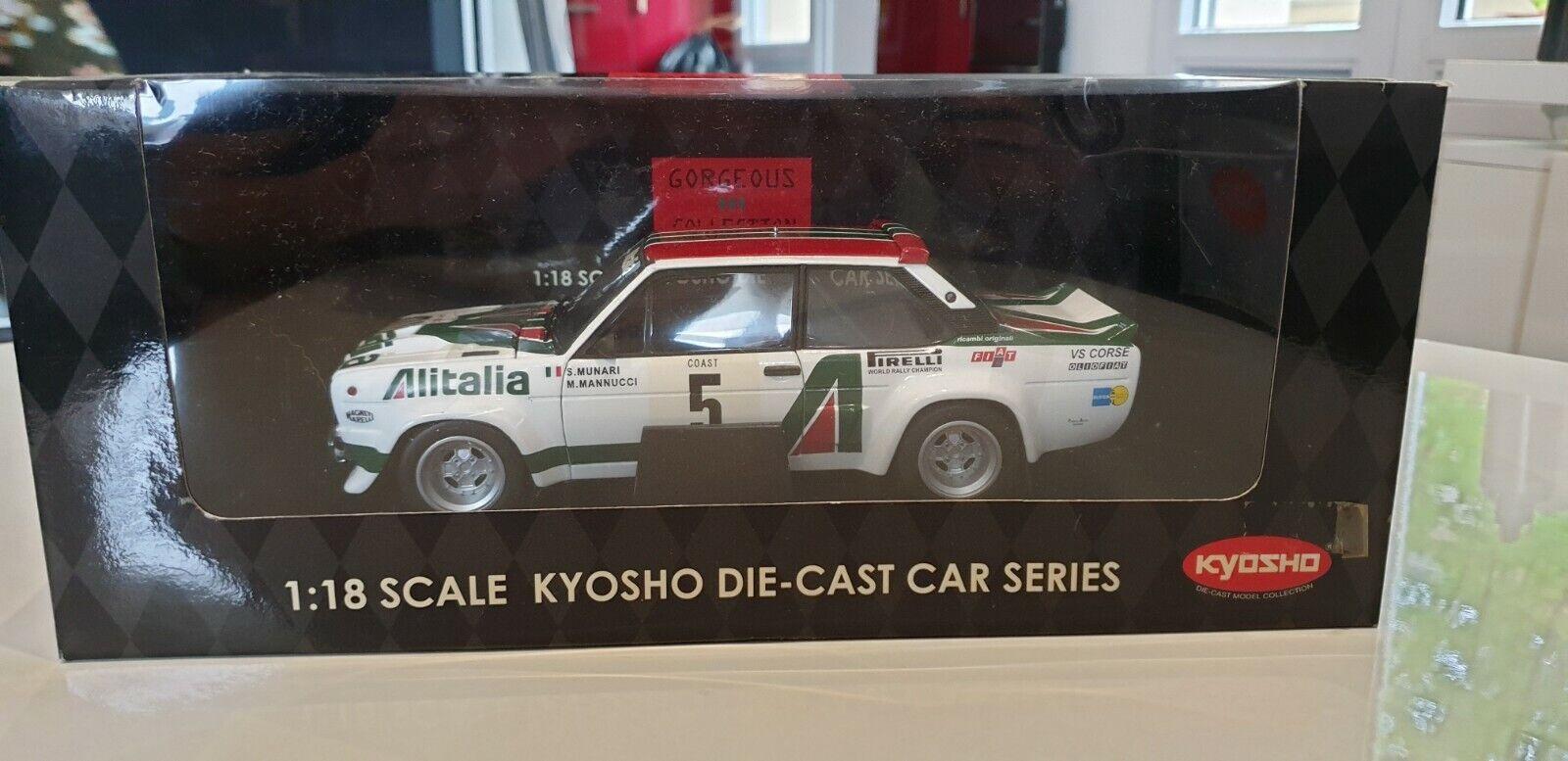NEW KYOSHO 08371C FIAT 131 ABARTH TOUR DE CORSE 1978  5 1 18